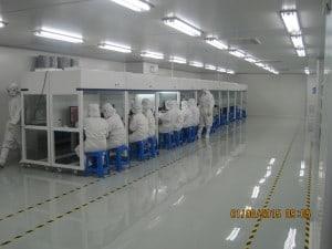Class 1000 laminar flow workstations