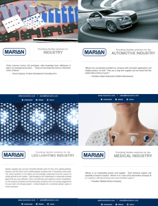 Collage of Marian Inc. Brochures