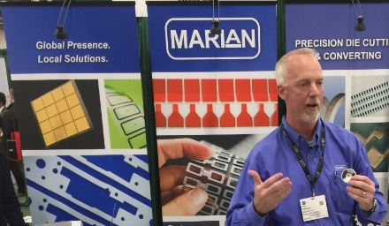 Marian Inc. demoing thermally conductive and resistant foam
