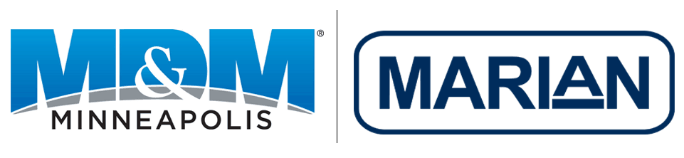 MD&M Minneapolis Logo and Marian Logo