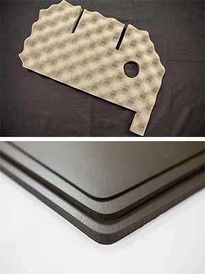 Anti-vibration sound dampening die-cut foam