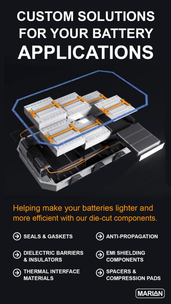 Marian Inc Custom Die-Cut Battery Components